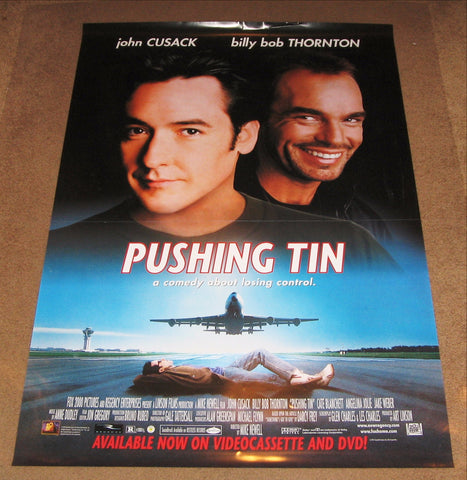Pushing Tin Movie Poster 27x40 Used Ferne Downey, Peter Graham, Carolyn Scott, Billy Bob Thornton, Ray Kahnert, Vicki Lewis, Ramona Milano, Martin Roach, John Carroll Lynch, Robert N Smith, Gene Dinovi