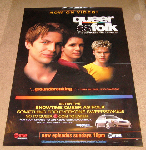 Queer as Folk the Complete First Season Movie Poster 27x40  Used Michelle Clunie, Peter Paige, Scott Lowell, Sharon Gless, Thea Gill, Robert Gant, Hal Sparks