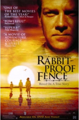 Rabbit Proof Fence Movie Poster 27x40 Used Jason Clarke, Celine O'Leary, David Ngoombujarra, Deborah Mailman, Maurice Kelly, David Gulpilil, David Buchanan, Garry McDonald, Kenneth Branagh, Ken Radley, Carmel Johnson