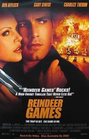 Reindeer Games 2000 Movie Poster 27x40 Used Danny Trejo, Charlise Theron, Ashton Kutcher, Ben Affleck
