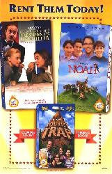 Rent Them Today 3 movies….Movie Poster 27x40 (1998) Used Noah, The Presidents Daughter, The Tourist Trap