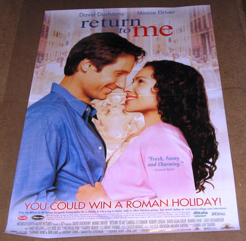 Return To Me 2000 Movie Poster 27x40 Used James Belushi, David Duchovny, Minnie Driver