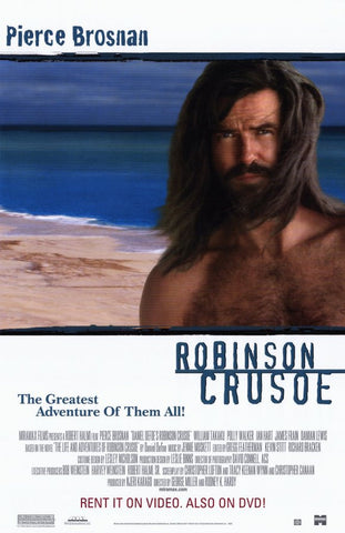 Robinson Crusoe Movie Poster 27x40 Used Ian Hart, Martin Grace, Lysette Anthony, Ben Robertson, Pierce Brosnan, Polly Walker, Tim McMullan, Damian Lewis, James Frain, Jim Clark