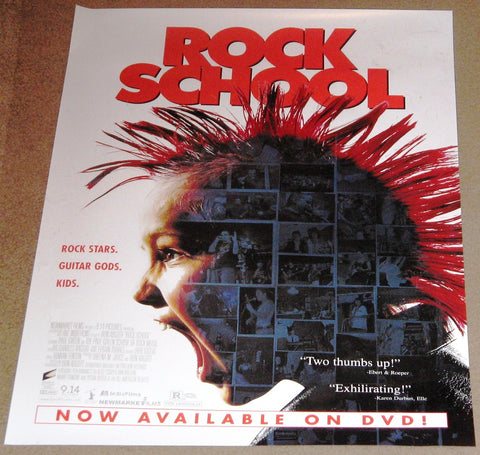 Rock School Movie Poster 17x24 (2005) Used