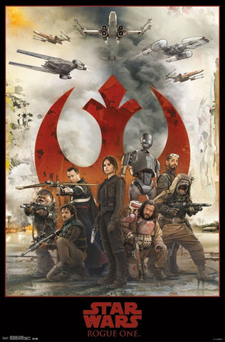 Rogue One - Assemble Movie Poster 23x34 RP14094 UPC882663040940 Star Wars