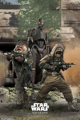 Rogue One - Trio Movie Poster 22x34 RP14097 UPC882663040971 Star Wars