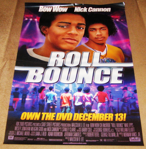 Roll Bounce Movie Poster 27x40 Used Marcus T Paulk, Kellita Smith, Damon Williams, Chi McBride, Bow Wow, Mike Epps, Mikey Kelley, Darryl McDaniels, Wayne Brady, Jurnee Smollett, Tim Kazurinsky, Brandon T Jackson