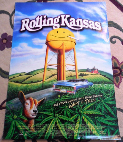 Rolling Kansas Movie Poster 27x40 Used Lew Temple, James Roday, Lisa Marie Newmyer, Sam Huntington, Kevin Pollak, Mia Zottoli, Charlie Finn, Johnny Bartee, Brent Smiga, Jay Paulson, Rip Torn, Brad Leland