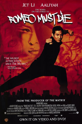 Romeo Must Die 2000 Movie Poster 27x40 Used Jet Li, DMX, Aaliyah