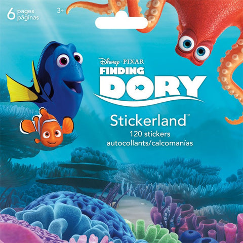 Finding Dory Mini Stickerland Pad - 6 page 120 stickers ST2308 UPC 042692044870
