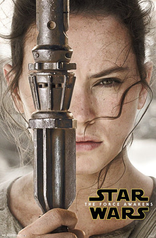 SWTFA - Rey Portrait Wall Poster 22x34 RP14587 UPC882663045877 Star Wars The Force Awakens