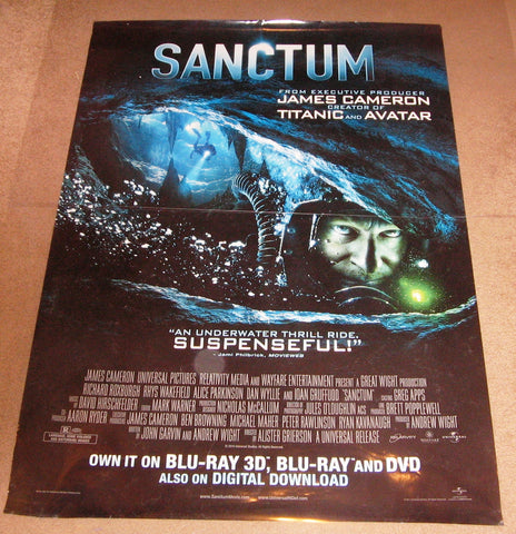 Sanctum Movie Poster 27x40 (2011) Used John Garvin, Richard Roxburgh, Christopher Baker, Dan Wyllie, Ioan Gruffudd
