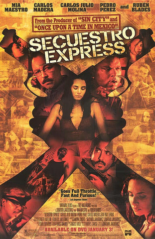 Secuestro Express Movie Poster 27x40 Used