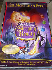 Sleeping Beauty 50th Anniversary Movie Poster 27x40 Used Disney, Dal McKennon, Eleanor Audley, Barbara Jo Allen, Taylor Holmes, Barbara Luddy, Verna Felton, Candy Candido, Mary Costa, Pinto Colvig, Bill Shirley, Marvin Miller, Bill Thompson