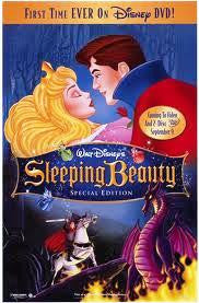 Sleeping Beauty Special Edition Movie Poster 27x40 Used Disney, Dal McKennon, Eleanor Audley, Barbara Jo Allen, Taylor Holmes, Barbara Luddy, Verna Felton, Candy Candido, Mary Costa, Pinto Colvig, Bill Shirley, Marvin Miller, Bill Thompson