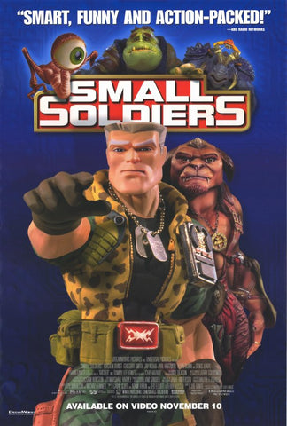 Small Soldiers 1998 Movie Poster 27x40 Used Tommy Lee Jones, Gregory Smith, Phil Hartman, Sarah Michelle Gellar, Christina Ricci, Ernest Borgnine