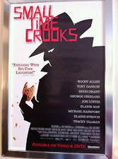 Small Time Crooks Movie Poster 27x40 (2000) Used Brian Markinson, Hugh Grant, Woody Allen, Tracey Ullman, Isaac Mizrahi, Crystal Field, Kenneth Edelson, William Hill, Bill Gerber, Ray Garvey, Tony Darrow, Scotty Bloch