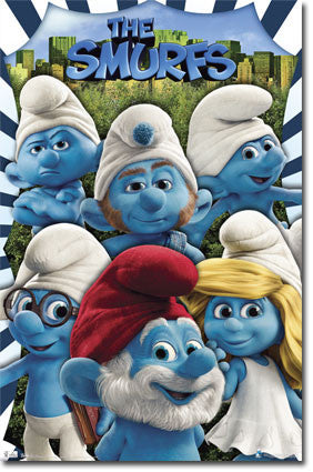 Smurfs – Group Movie Poster 22x34 RP1246