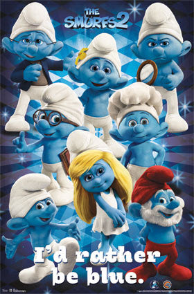 Smurfs 2 – Group Movie Poster 22x34 Grid RP5858 UPC017681058589