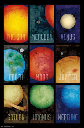 Solar System 2014 Poster 22x34 RP13497