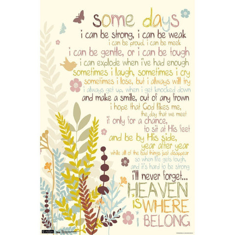 Some Days Inspirational Poster 34x22 RP5510 God Heaven Trends International