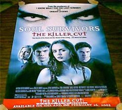 Soul Survivors The Killer Cut Movie Poster 27x40 Used Luke Wilson, Barbara E Robertson, Angela Featherstone, Amy Farrington, Casey Affleck, Allen Hamilton, Wes Bentley, Scott Benjaminson, Melissa Sagemiller, Candace Kroslak
