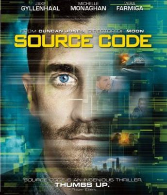 Source Code 2011 Movie Poster 27x40 Used Pierre Leblanc, Russell Peters, Joe Cobden, Jeffrey Wright, Kyle Gatehouse, Jake Gyllenhaal, Scott Bakula, Frederick De Grandpre, Gordon Masten, Matt Holland, James A Woods