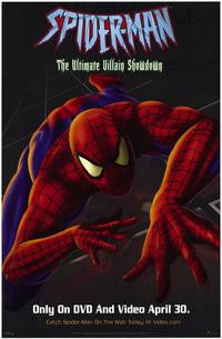 Spider-Man The Ultimate Villain Showdown Movie Poster 27x40 Animated Used