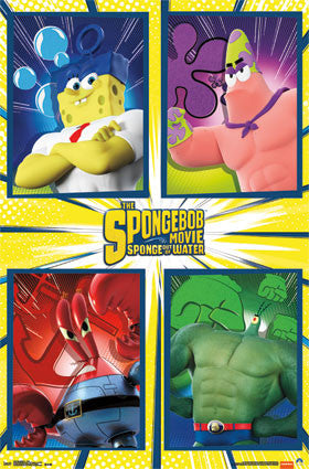 SpongeBob 2 - Team TV Show Cartoon Poster 22x34 RP13842 UPC882663038428