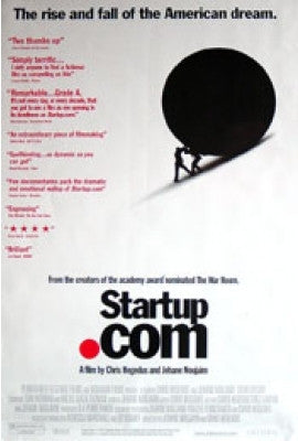 Startup.com Movie Poster 27x40 Used Bill Cinton