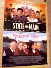 State and Main Movie Poster 27x40 Used Sean Patrick Reilly, Jordan Lage, Jim Frangione, Michael Higgins, Julia Stiles, Rebecca Pidgeon, Charles Durning, Tony Mamet, Darrell Geer, Sarah Jessica Parker, David Lauren