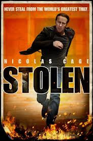 Stolen Movie Poster 27X40 Used Richard Brown, Matt McHugh, Cynthia LeBlanc, JD Evermore, Marcus Lyle Brown, MC Gainey, Kyle Russell Clements, Nicolas Cage, Edrick Browne, Barry Shabaka Henley