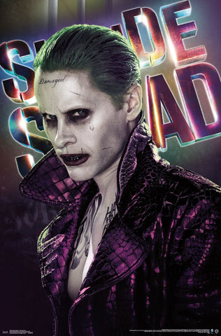 Suicide Squad - Joker Close-Up Movie Poster 22x34 RP15042 UPC882663050420