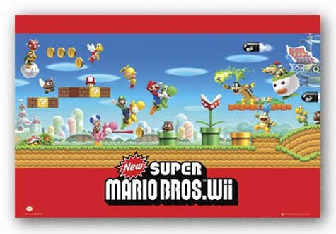 Super Mario – Wii Poster 22x34 RP6302 UPC017681063026