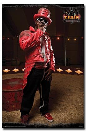 T-Pain – Red Music Poster 22x34 RP6160 UPC017681061604