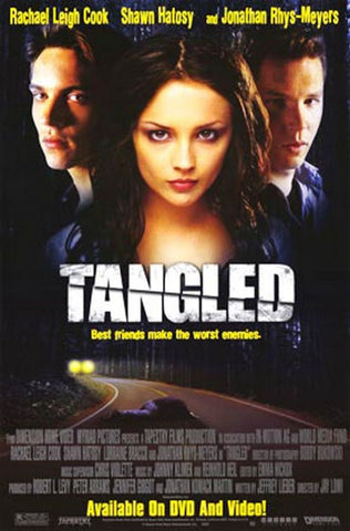Tangled (2001) Movie Poster 27x40 Used Robert McKenna, Shawn Hatosy, Estella Warren, Dwayne Hill, Joyce Gordon, Rachael Leigh Cook, Jane Moffat, Lorraine Bracco, Jonathan Rhys Meyers