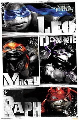 Teenage Mutant Ninja Turtles - Blur Movie Poster 22x34 RP9842 UPC017681098424 TMNT