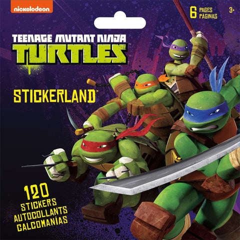 Teenage Mutant Ninja Turtles Mini Stickerland Pad 6 Page ST5189 UPC042692032297 TMNT