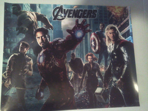The Avengers Mini Poster Movie Used 11x17