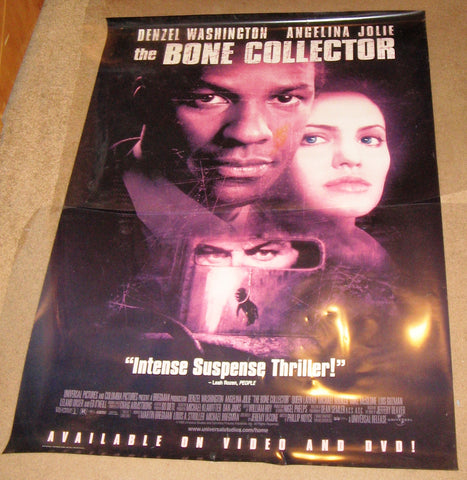 The Bone Collector 1999 Movie Poster 27X40 Used Denzel Washington Angelina Jolie, Queen Latifah