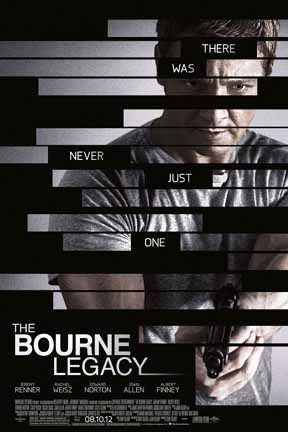 The Bourne Legacy 2012 Movie Poster 27x40 Double Sided Used Matt Damon
