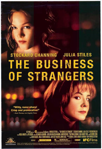 The Business of Stranger Movie Poster 27x40  Used Julia Stiles Stockard Channing
