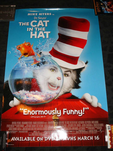 The Cat in the Hat Movie Poster 27x40	  Used Mike Myers