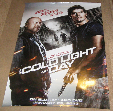 The Cold Light Of Day Movie Poster 27x40 Used Colm Meany, Bruce Willis, Sigourney Weaver