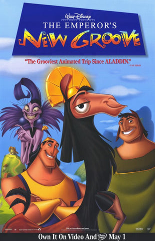 The Emperor's New Groove Movie Poster 27x40 Used Walt Disney Sherry Lynn, Robert Clotworthy, David Spade