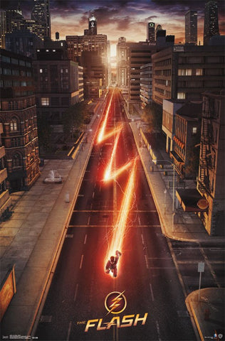 The Flash - Street TV Show Poster 22x34 RP14034 UPC882663040346