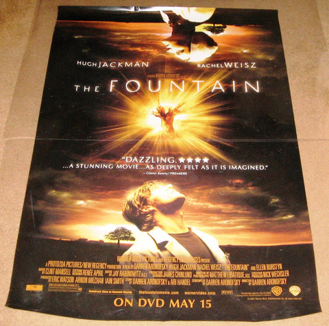 The Fountain Movie Poster 27x40 Used Hugh Jackman Rachel Weisz
