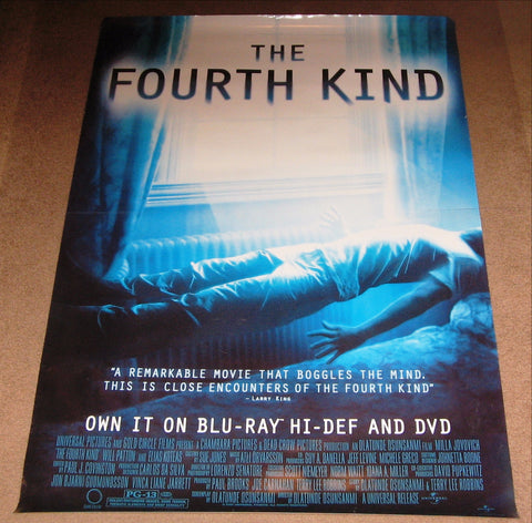 The Fourth Kind Movie Poster 27x40 Used (2009) Enzo Cilenti, Corey Johnson, Will Patton, Eric Loren, Julian Vergov, Elias Koteas, Valentin Ganev, Vladimir Kolev, Mike Straub, Hakeem Kae-Kazim, Milla Jovovich