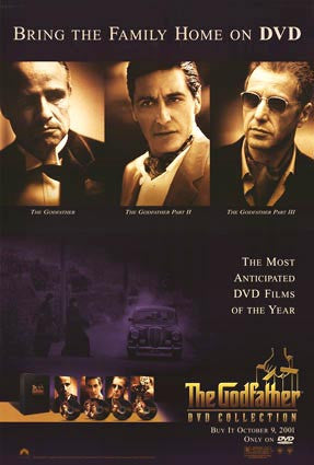 The Godfather DVD Collection Movie Poster 27x40 Used Trilogy