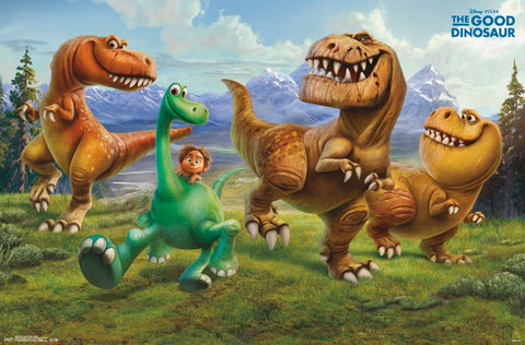 The Good Dinosaur - Group Movie Poster 22x34 RP13722 UPC882663037223 Disney